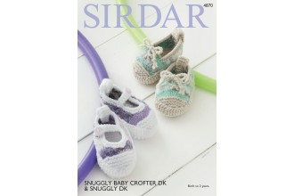 Sirdar 4870 Shoes in Snuggly Baby Crofter DK and Snuggly DK (leaflet)