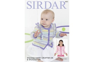 Sirdar 4872 Cardigan in Baby Crofter DK and Snuggly DK (downloadable PDF)