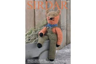 Sirdar 4874 Fox in Snuggly Snowflake DK, Harrap Tweed DK and Hayfield Bonus DK (downloadable PDF)