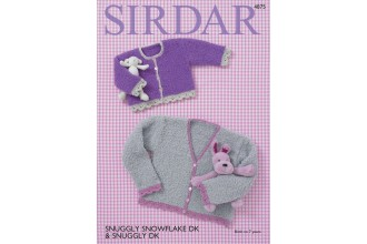 Sirdar 4875 Cardigans in Snuggly Snowflake DK and Snuggly DK (downloadable PDF)