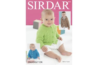 Sirdar 4876 Jackets in Snuggly DK (downloadable PDF)