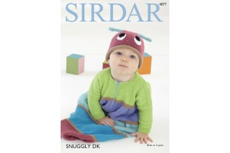 Sirdar 4877 Sleeping Bag and Hat in Snuggly DK (downloadable PDF)