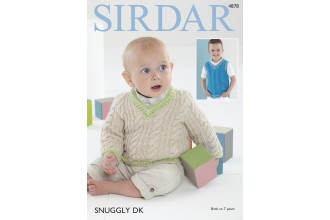 Sirdar 4878 Sweater and Tank Top in Snuggly DK (downloadable PDF)