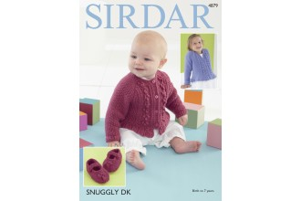 Sirdar 4879 Cardigans and Shoes in Snuggly DK (downloadable PDF)