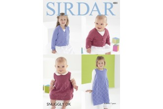 Sirdar 4881 Cardigan and Pinafore in Snuggly DK (downloadable PDF)