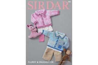 Sirdar 4882 Cardigans in Flurry and Snuggly DK (downloadable PDF)