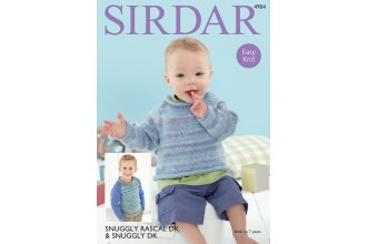 Sirdar 4904 Sweaters in Snuggly Rascal DK and Snuggly DK (downloadable PDF)
