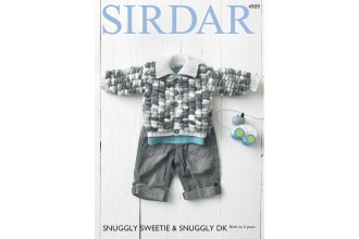 Sirdar 4909 Jacket in Snuggly Sweetie and Snuggly DK (leaflet)