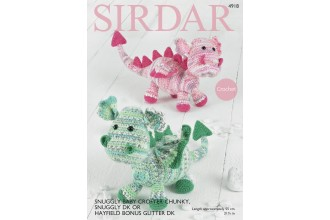 Sirdar 4918 Dragons in Snuggly Baby Crofter Chunky & Snuggly DK (downloadable PDF)