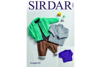 Sirdar 4943 Baby's and Girl's  Cardigan and Sweater in Snuggly DK  (leaflet)