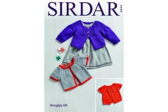 Sirdar 4944 Baby's and Girl's  Cardigans in Snuggly DK  (leaflet)