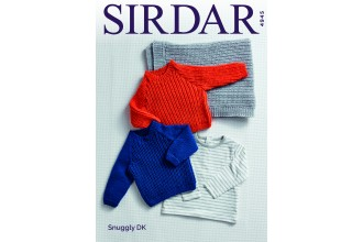 Sirdar 4945 Sweaters and Blanket in Snuggly DK (downloadable PDF)