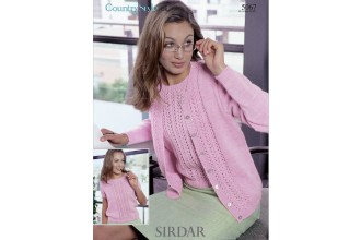 Sirdar 5067 Top and Cardigan in Country Style DK (leaflet)