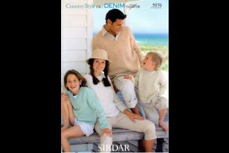 Sirdar 5076 Country Style DK/ Denim Tweed DK (downloadable PDF)