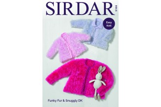 Sirdar 5166 Jacket in Funky Fur and Snuggly DK (downloadable PDF)