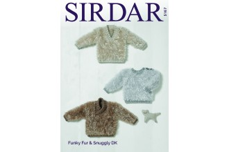 Sirdar 5167 Baby Boy's Sweaters in Funky Fur and Snuggly DK (downloadable PDF)