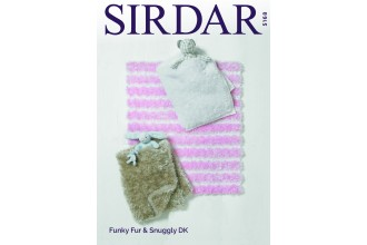 Sirdar 5168 Blankets in Funky Fur and Snuggly DK (downloadable PDF)