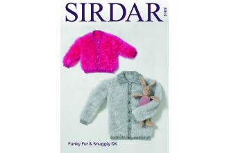 Sirdar 5169 Cardigans in Funky Fur and Snuggly DK (downloadable PDF)