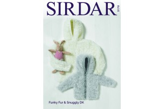 Sirdar 5170 Sweater with Hood and  Jacket with Hood in Funky Fur and Snuggly Dk  (leaflet)