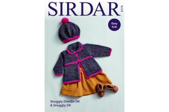 Sirdar 5173 Coat and Beret in Snuggly Doodle DK and Snuggly DK (downloadable PDF)