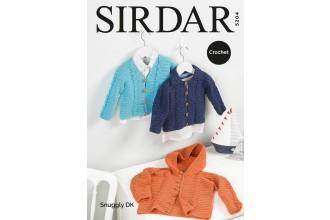 Sirdar 5204 Boy's Cardigans in Snuggly DK (downloadable PDF)