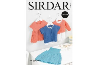 Sirdar 5205 Pinafore, Dress and Cardigans in Snuggly DK (downloadable PDF)