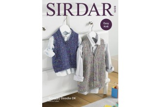 Sirdar 5208 Tank Top and Waistcoat in Snuggly Doodle DK (leaflet)