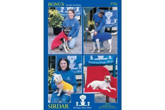 Sirdar 5792 Dog Blanket and Coat in Bonus DK (downloadable PDF)