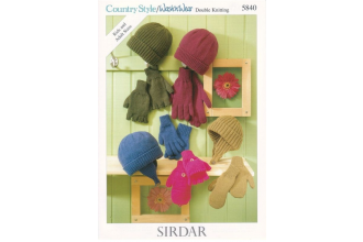 Sirdar 5840 Country Style DK/ Wash 'N' Wear (downloadable PDF)