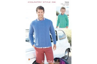 Sirdar 7033 Country Style DK Sweater (downloadable PDF)
