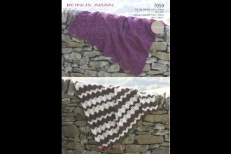 Sirdar 7059 Bonus Aran with Wool Blankets (downloadable PDF)