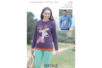 Sirdar 7118 Country Style DK Jumper (downloadable PDF)