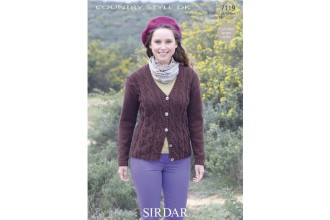 Sirdar 7119 Country Style DK Womens Cardigan (downloadable PDF)