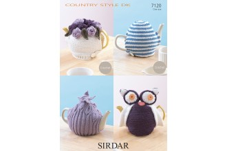 Sirdar 7120 Country Style DK Tea Cosies (downloadable PDF)