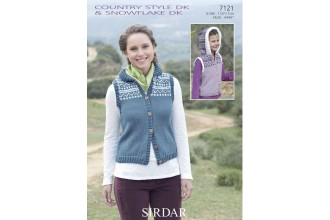 Sirdar 7121 Country Style DK & Snowflake DK Gilet (downloadable PDF)