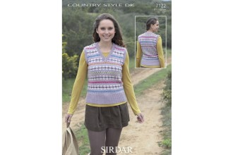 Sirdar 7122 Country Style DK Womens Sweater (downloadable PDF)