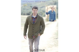 Sirdar 7123 Country Style DK Mens Cardigan (downloadable PDF)