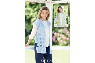 Sirdar 7218 Country Style DK Ladies Waistcoat (downloadable PDF)