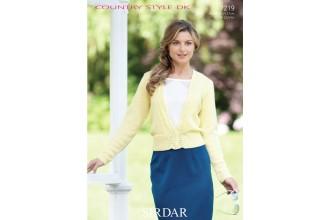 Sirdar 7219 Country Style DK Ladies Cardigan (downloadable PDF)