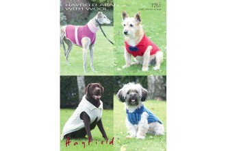 Sirdar 7261 Dogs Coats in Hayfield Aran with Wool and Snuggly Snowflake Chunky (downloadable PDF)
