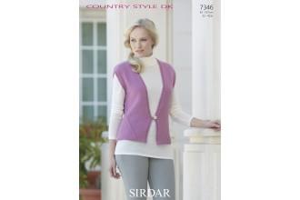 Sirdar 7346 Ladies Waistcoat in Country Style DK (downloadable PDF)