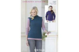 Sirdar 7347 Sweater and Sleevless Top in Country Style DK (leaflet)