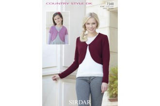 Sirdar 7348 Cardigans in Country Style DK (downloadable PDF)