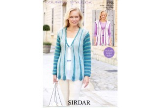 Sirdar 7756 Cardigan and Waistcoat in Country Style DK (downloadable PDF)