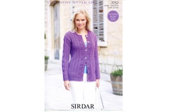 Sirdar 7757 Cardigan in Country Style DK (downloadable PDF)