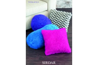 Sirdar 7781 Cushion Covers in Touch and Country Style DK (downloadable PDF)