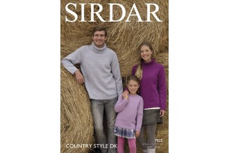 Sirdar 7825 Family Sweaters in Country Style DK (downloadable PDF)