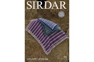 Sirdar 7826 Crochet Blankets in Country Style DK (leaflet)