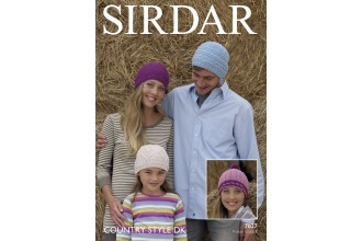 Sirdar 7827 Knitted Hats in Country Style DK (downloadable PDF)