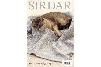 Sirdar 7828 Cat Blankets in Country Style DK (downloadable PDF)